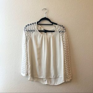 Forever 21 White Lace Long Sleeve